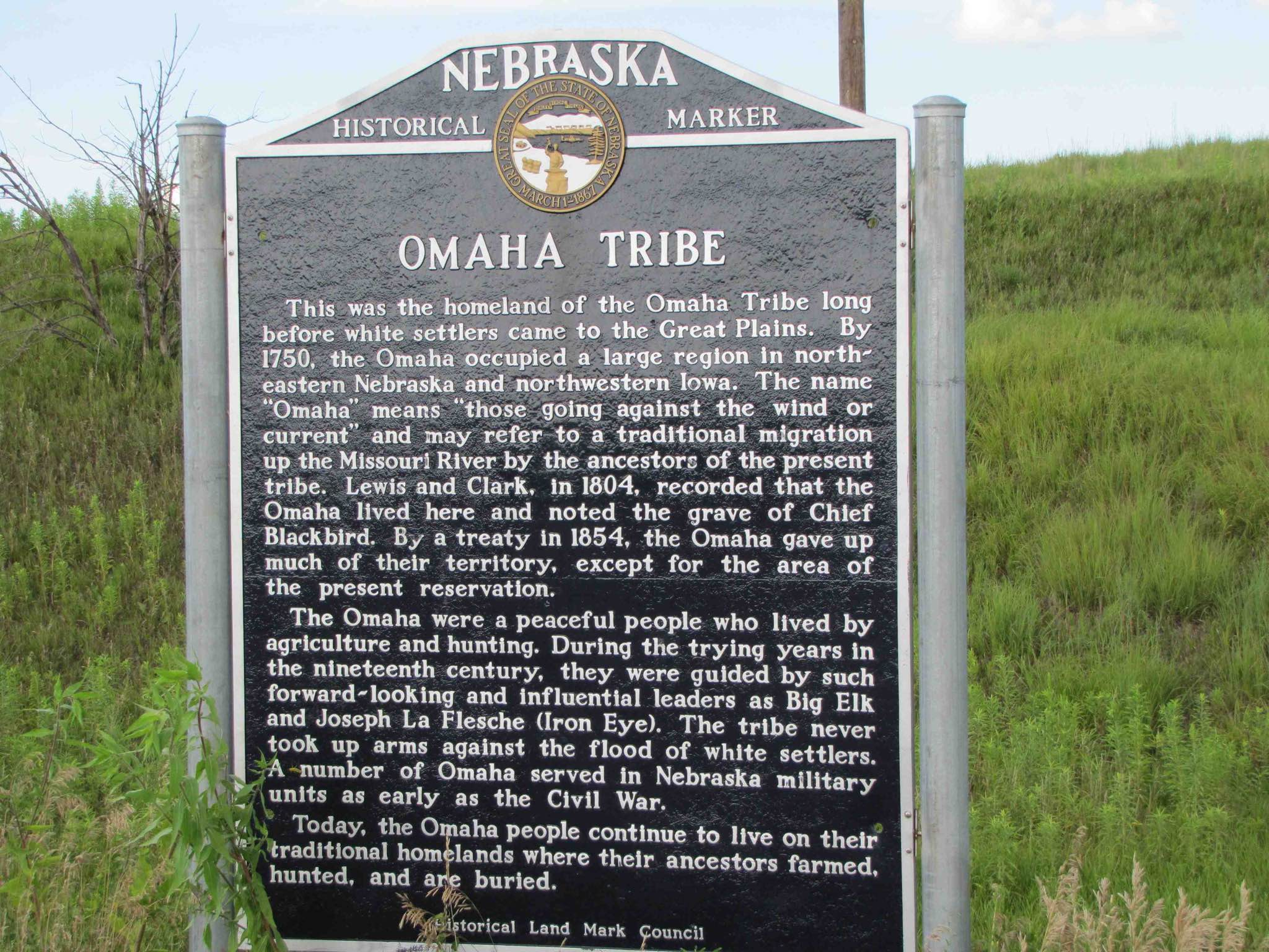 omaha tribe sign